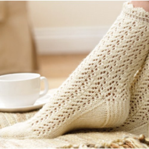 Free Sock Knitting Pattern : Lace Knitting Patterns A Knitting Blog