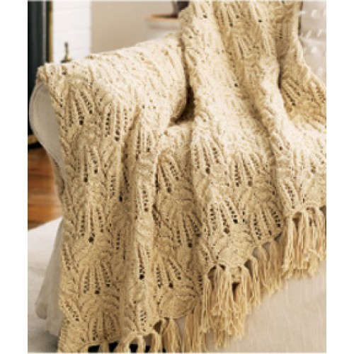 Indie Knitting Patterns : Picture of Free Lacy Afghan Knitting Pattern