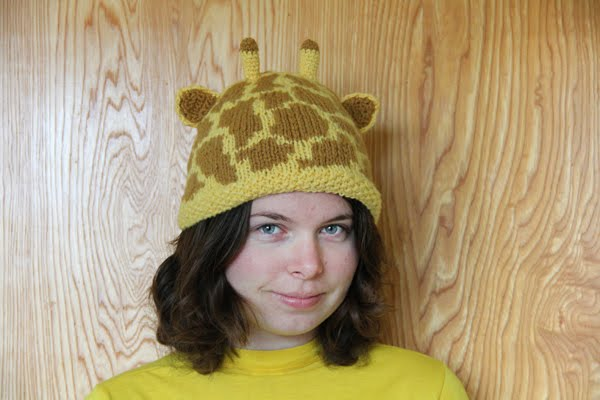 Baby Giraffe Hat Knitting Pattern : Animal Knit Hats Pattern A Knitting Blog