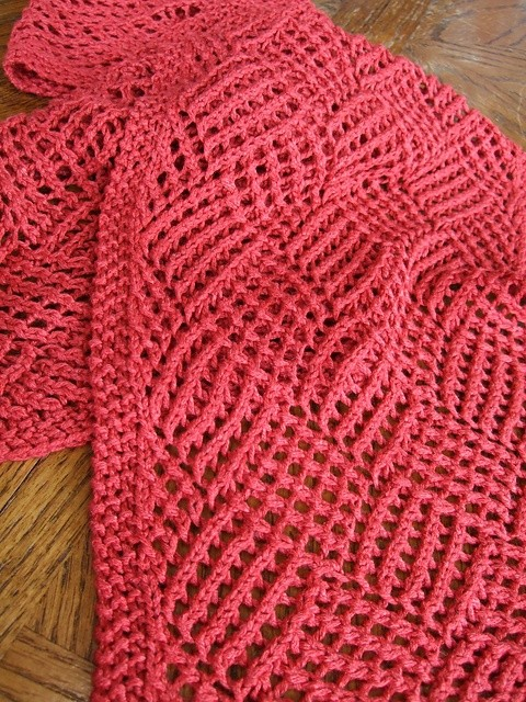 Free Patterns Knitting : Reversible Knit Scarf Pattern A Knitting Blog