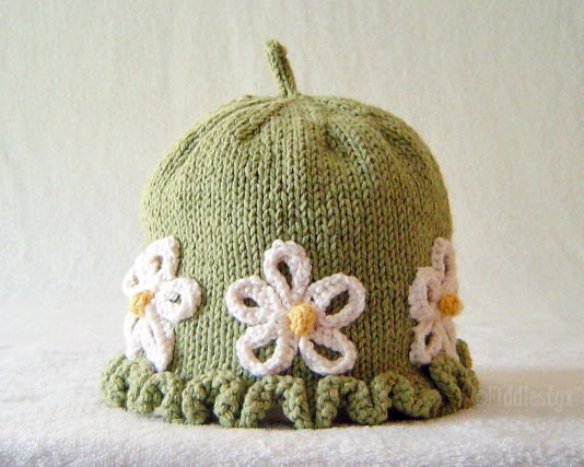 Knit Hat With Flower Pattern : Knit Hat with Flower Patterns A Knitting Blog