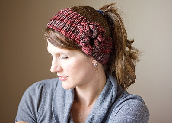 Knitting Pattern Headband With Flower : Knitted Headband with Flower Patterns A Knitting Blog