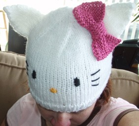 Knitting Pattern Hello Kitty : Hello Kitty Knit Hat Pattern A Knitting Blog