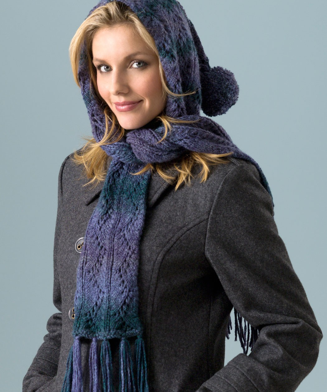 Easy Knitted Hooded Scarf Pattern Free : Crochet Scarf Cowl Infinity Pinterest Rachael Edwards