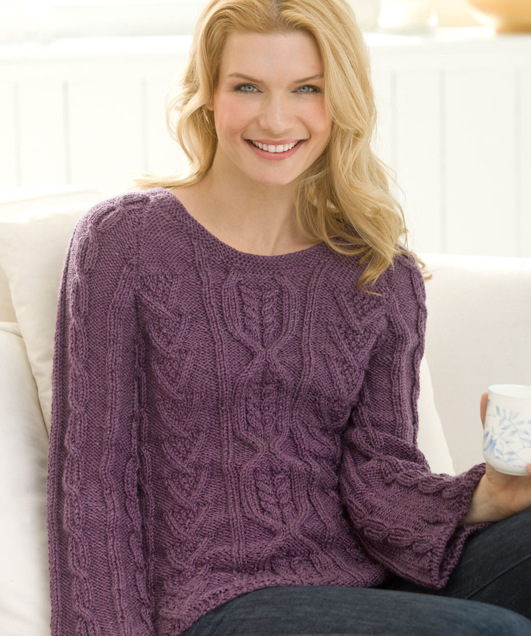 Free Knitting Scarf Pattern : Knitting Patterns Cable Knit Sweaters