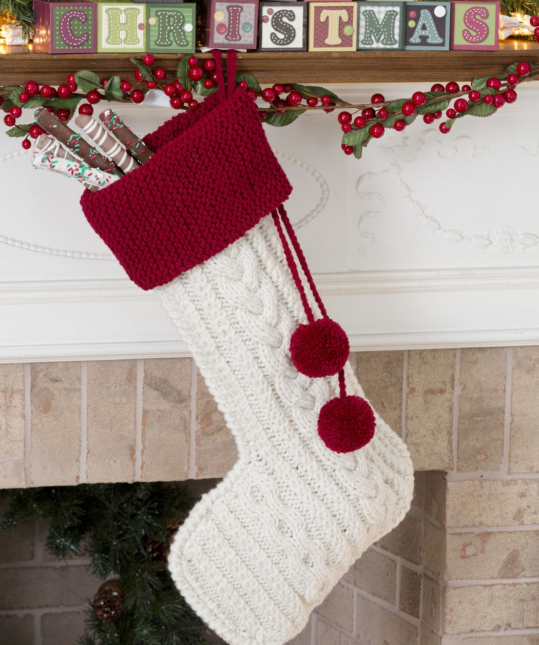 Knitting Pattern For Christmas Stocking Free : Cable Knit Christmas Stocking Pattern Car Interior Design