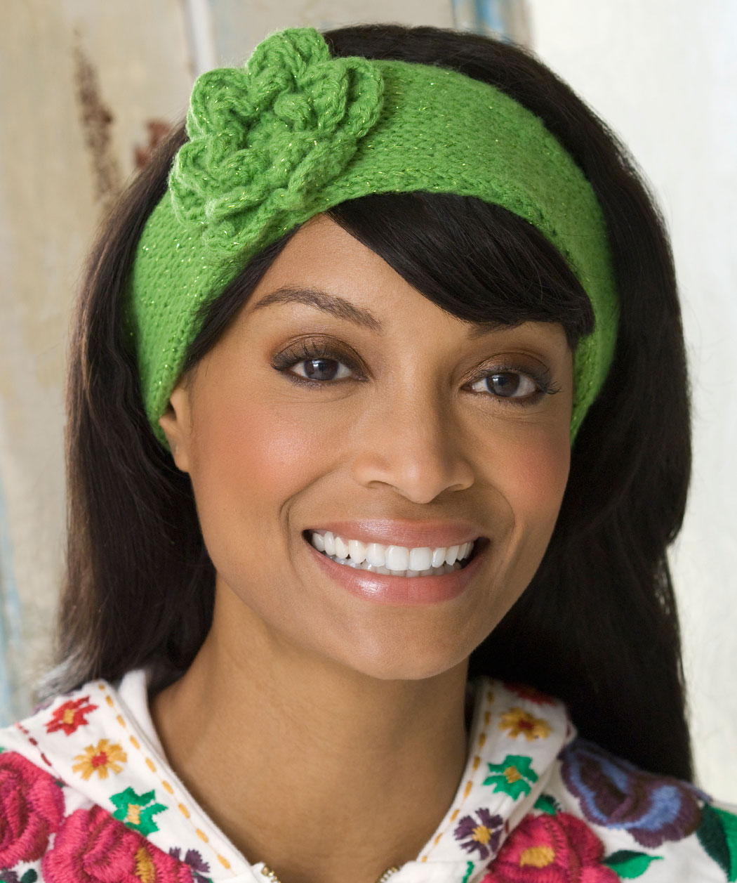 Knit Headband Pattern With Crochet Flower : Knitted Headband with Flower Patterns A Knitting Blog