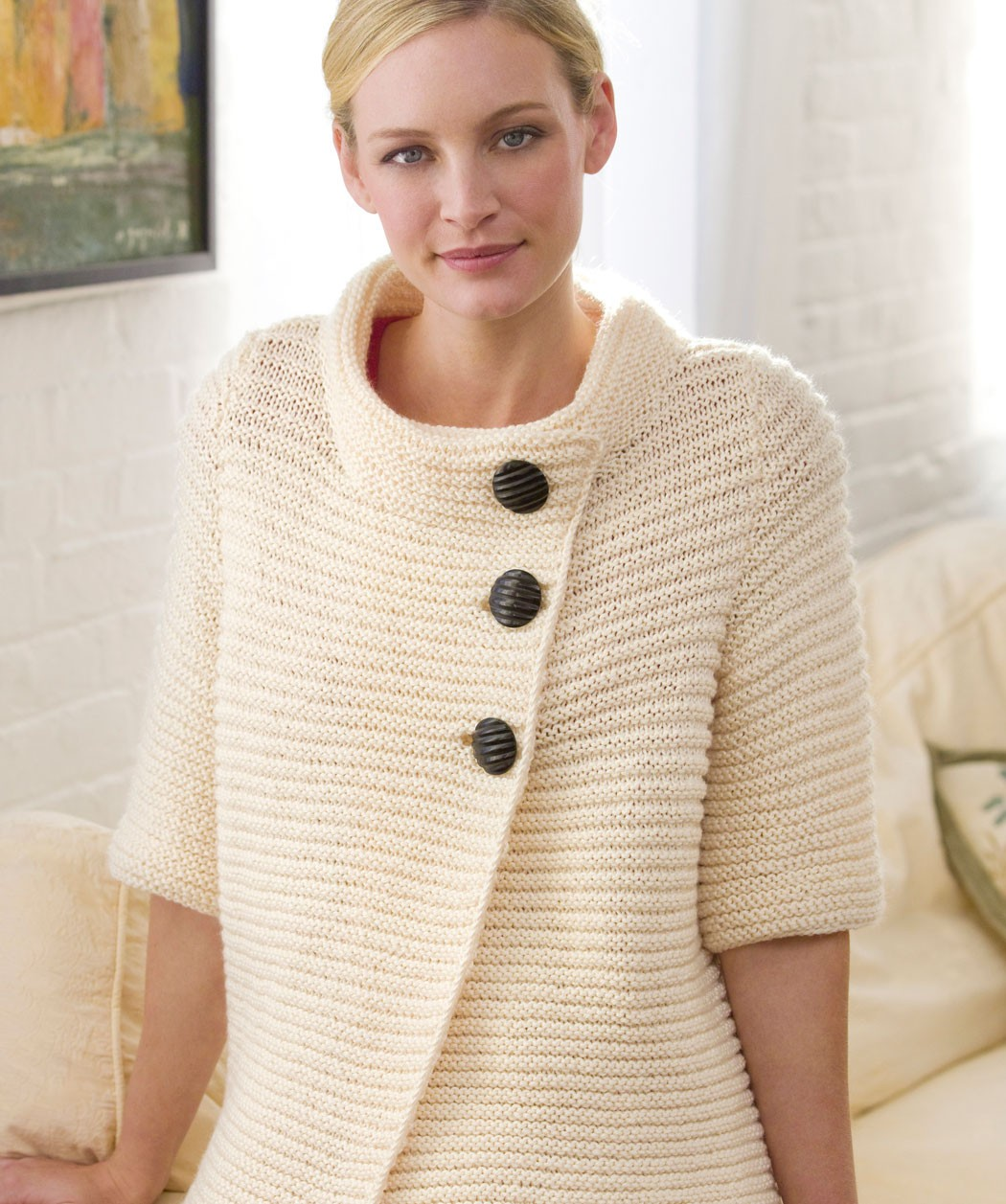Easy Cardigan Knitting Pattern : Easy Knit Pullover Sweater Pattern 2016