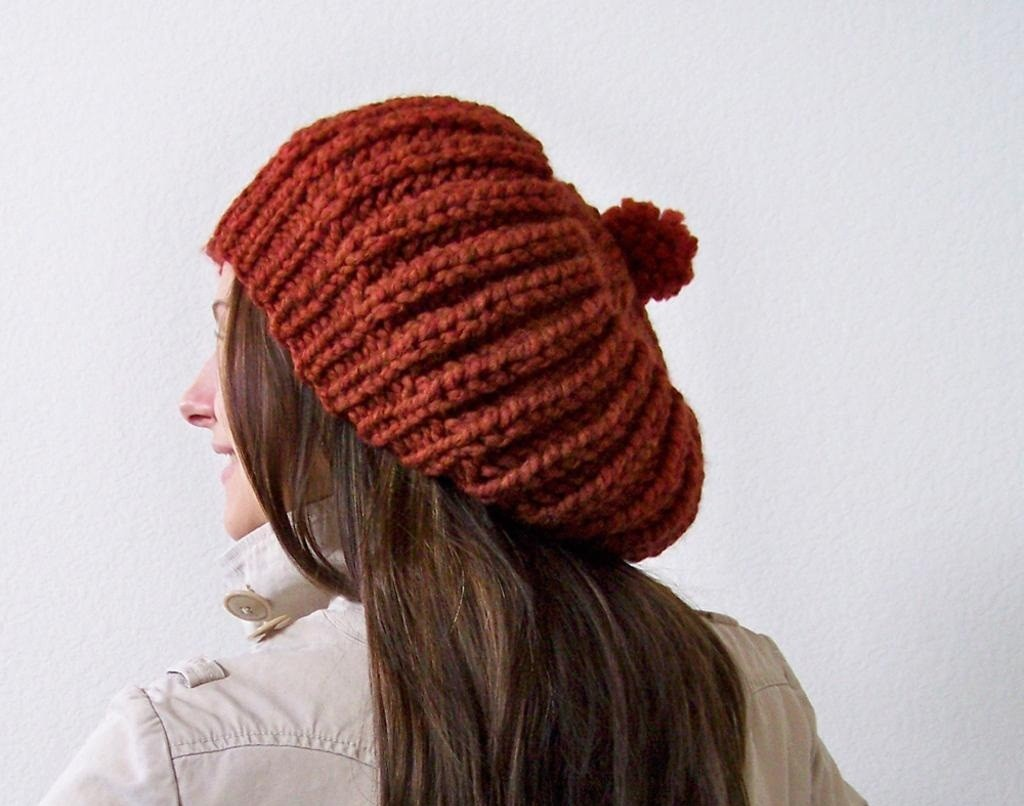 Pom Pom Beanie Knitting Pattern : Slouchy Beanie Knit Pattern A Knitting Blog
