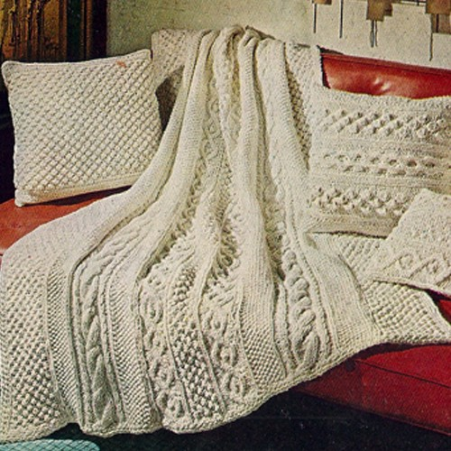 Free Aran Knitting Pattern : Knitted Afghan Patterns A Knitting Blog