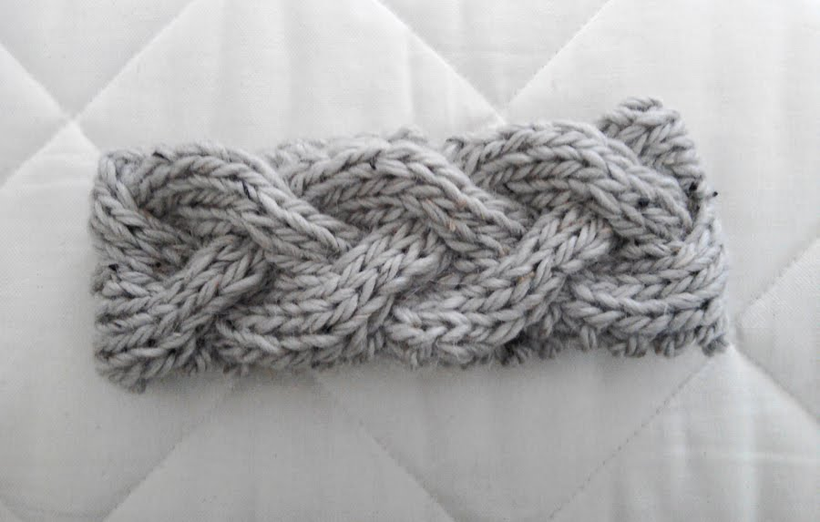 Headband Knitting Pattern : Braided Knit Headband Patterns A Knitting Blog