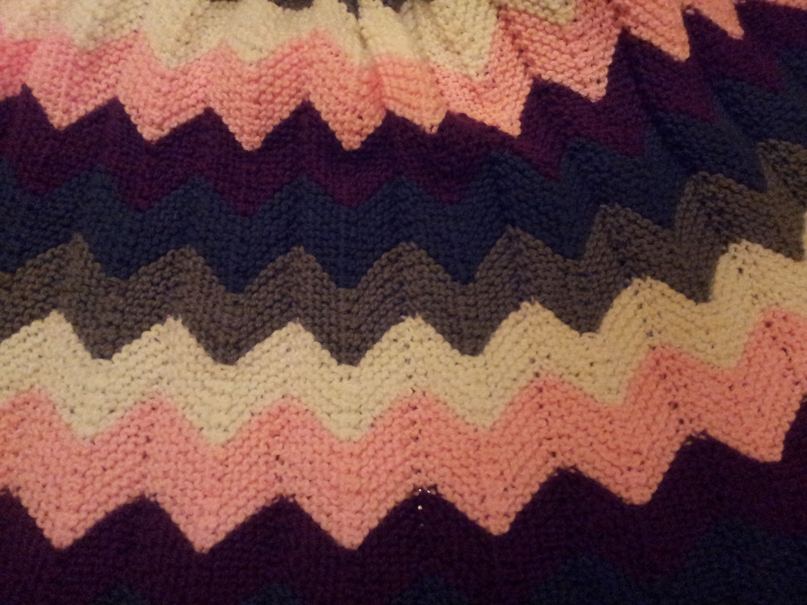 Free Knit Afghan Patterns : Knitted Afghan Patterns Ripple images