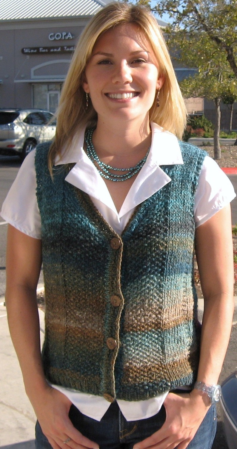 Vest Jumper Knitting Pattern : Knitted Vest Patterns A Knitting Blog