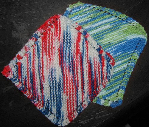 Waffle Knitting Pattern Dishcloth : Knitted Dishcloth Patterns A Knitting Blog