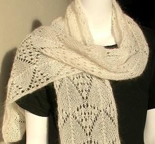 Lace Scarf Knitting Pattern Tutorial Photos
