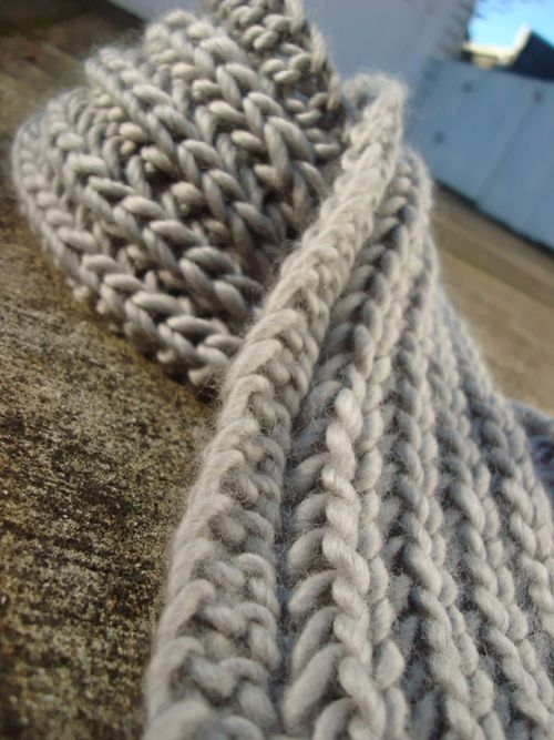 Knit Scarf Pattern With Bulky Yarn : Chunky Knit Scarf Pattern A Knitting Blog