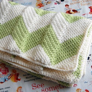 Loom Knit Chevron Baby Blanket Pattern Tutorial Photos