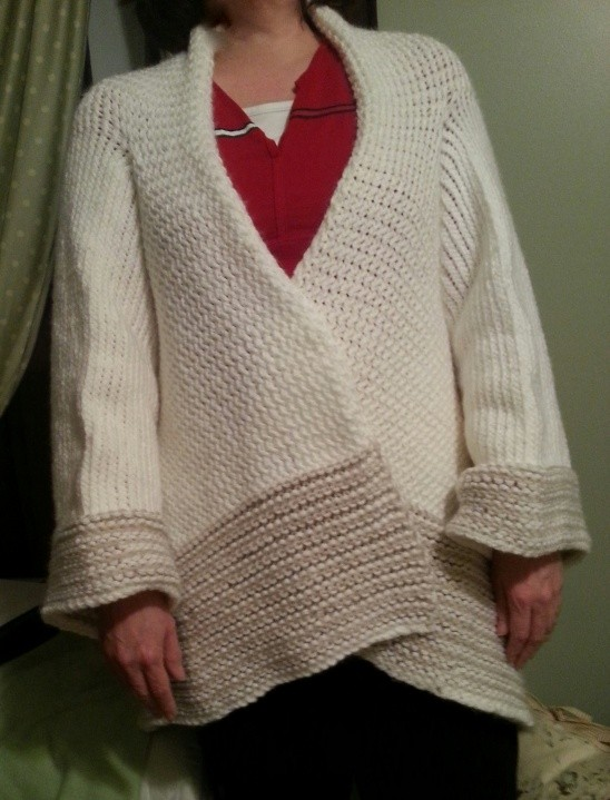 Easy Oversized Pattern Sweater Yarn - Bronze Cardigan