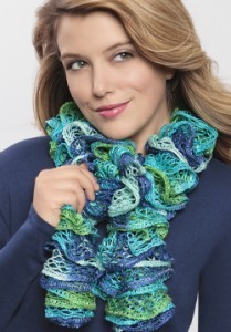 Pictures of Loom Knit Ruffle Scarf Pattern
