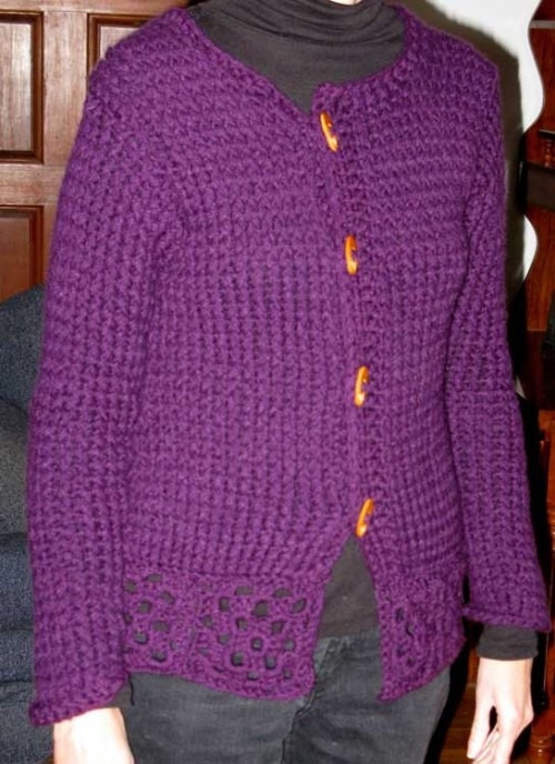 Sweater Pattern Knitting Loom - Long Sweater Jacket