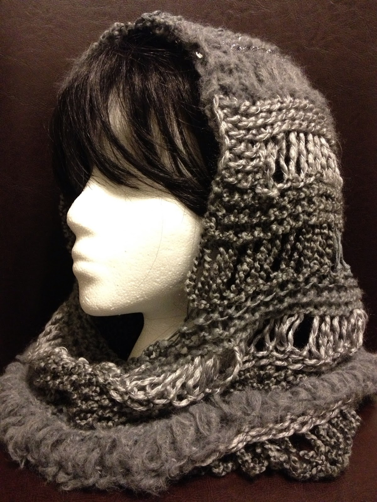 Knitting Pattern Hood Cowl : Loom Knitting Scarf Patterns A Knitting Blog
