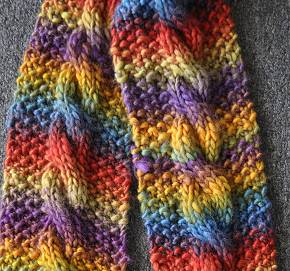 Mochi Cable Knitting Scarf Pattern Image