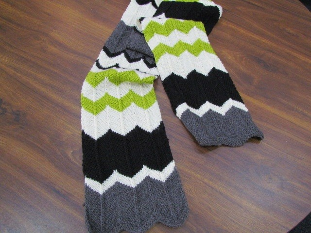 Knit Striped Scarf Pattern : Chevron Scarf Knitting Pattern A Knitting Blog