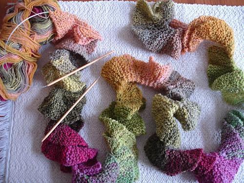 11 Potato Chip Scarf Knit Patterns The Funky Stitch