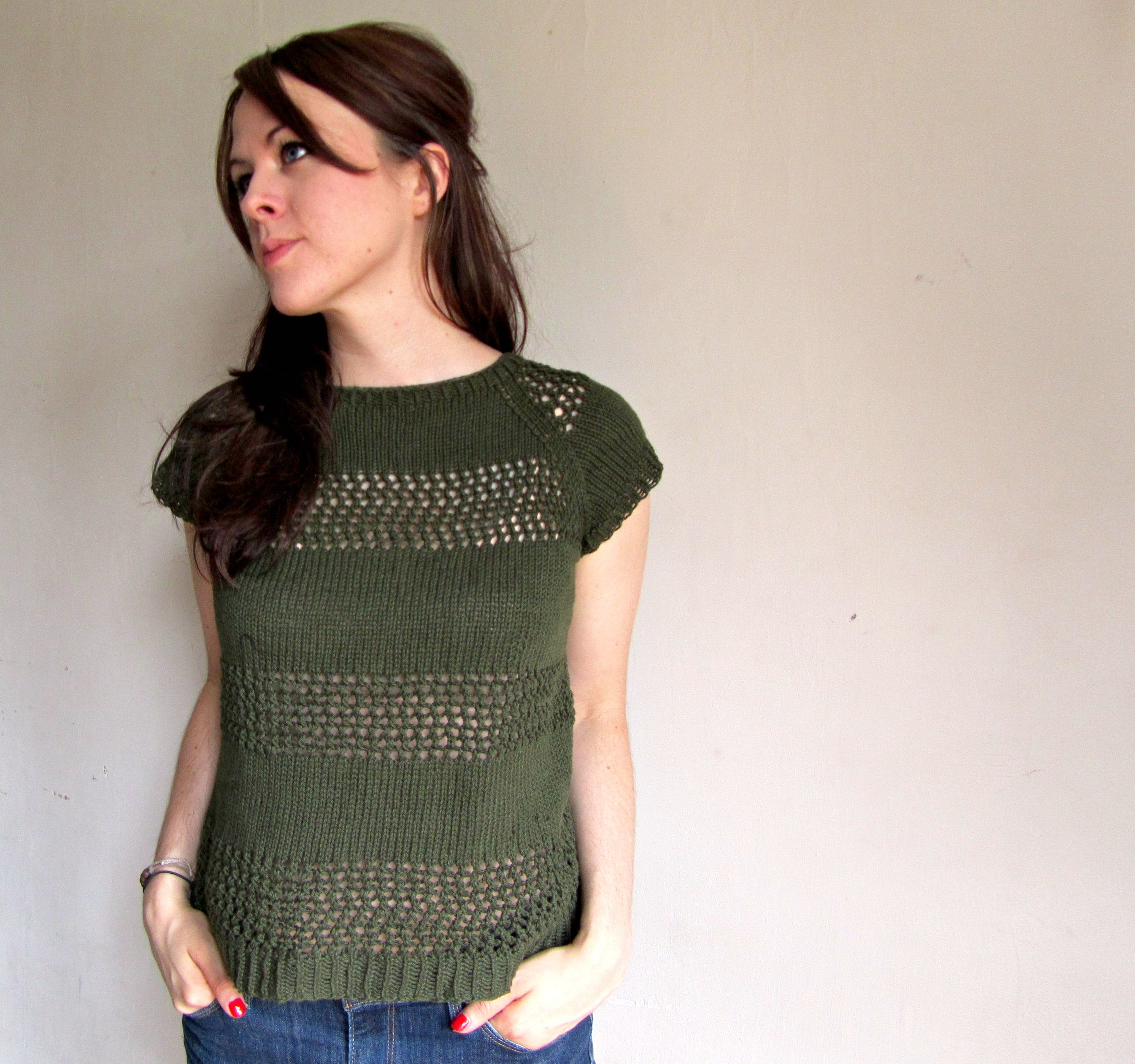 Easy Summer Sweaters To Knit - Cardigan With Buttons