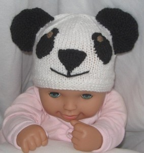 Panda Beanie Hat Knitting Pattern Pictures