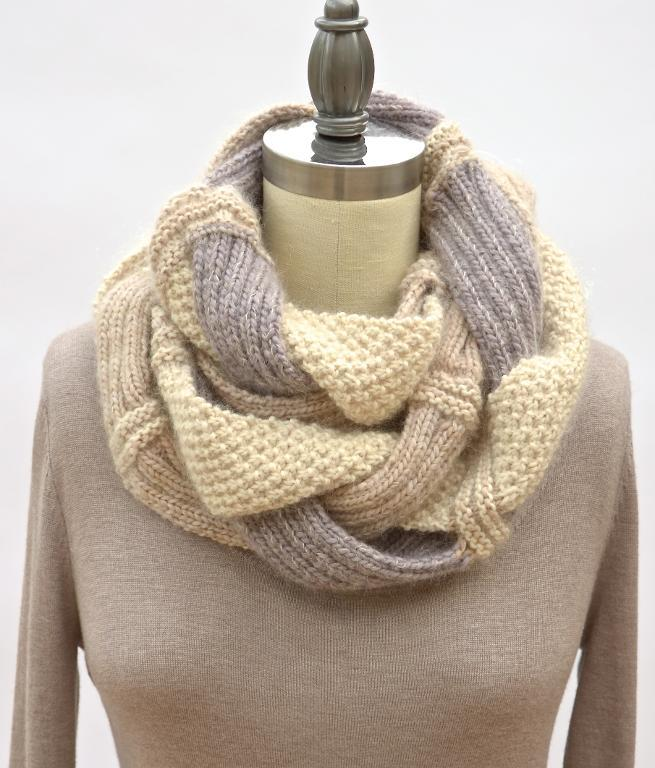 Product Features Knit infinity scarf keeps you protected from the cold weather, Suit for.