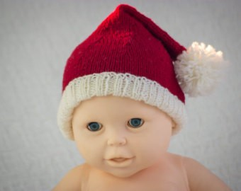 Knitting Pattern Christmas Hat : Knitted Santa Hat Pattern A Knitting Blog