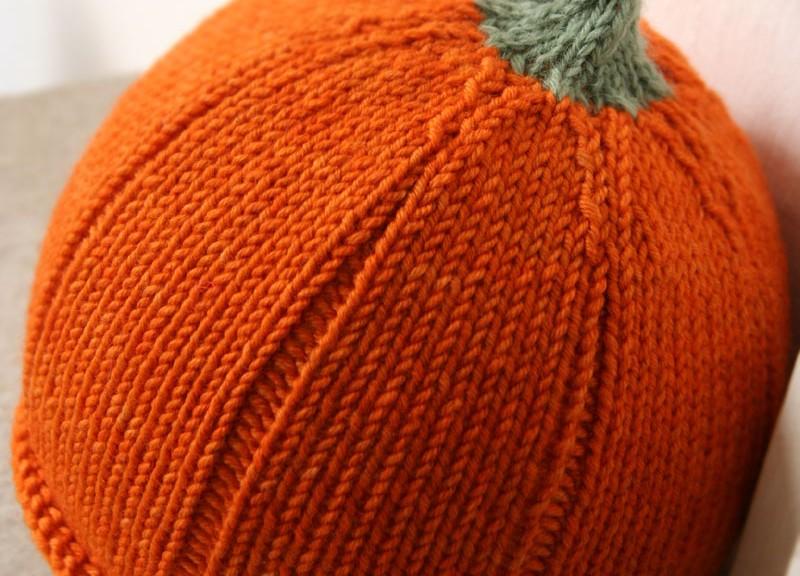 Knitted Pumpkin Pattern : Knitted Pumpkin Hat Pattern A Knitting Blog