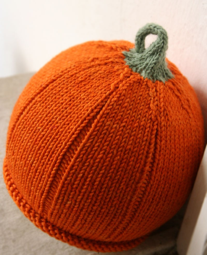 Knitted Pumpkin Hat Pattern A Knitting Blog