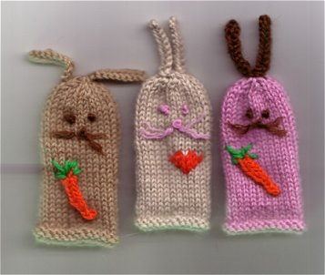 Cable Mittens Knitting Pattern : Knitted Finger Puppet Patterns A Knitting Blog