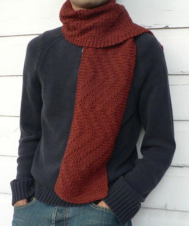 Knitting Patterns For Men Scarf : Men s Knit Scarf Pattern A Knitting Blog