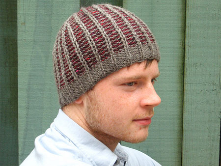 Free Slouchy Knit Hat Pattern : Men s Knit Hat Pattern A Knitting Blog