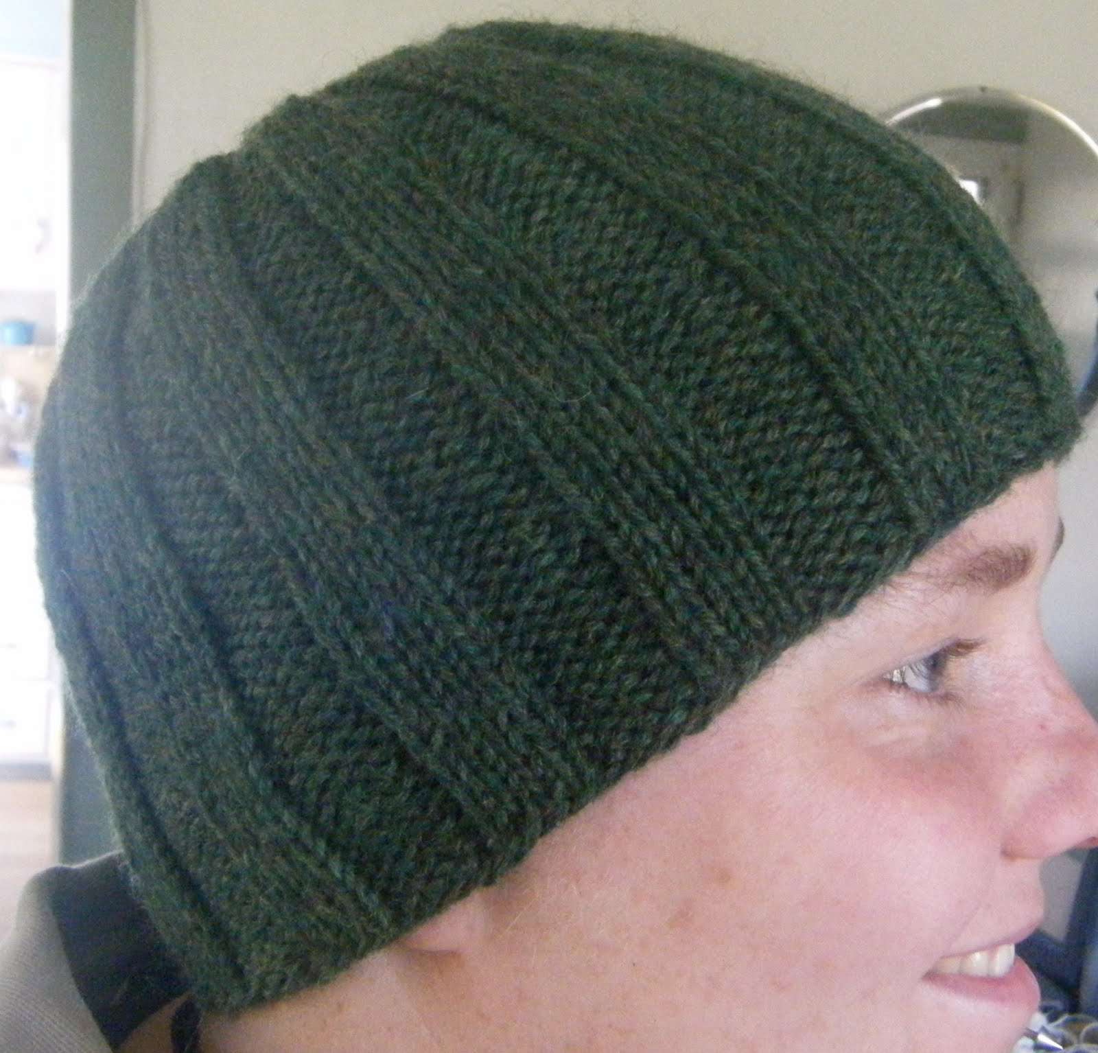 Free Knitting Pattern For Mens Ribbed Hat : Easy Knit Hat Pattern Search Results Calendar 2015