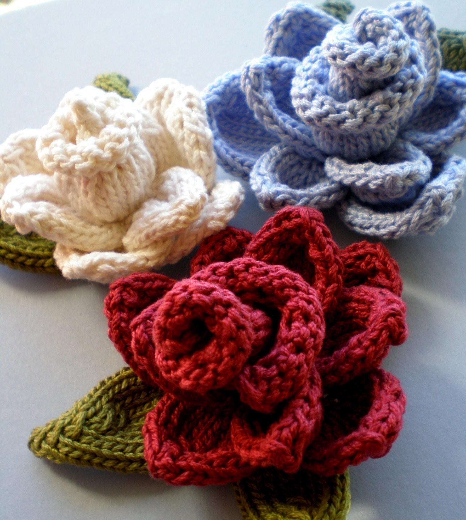 Knitting Flowers Patterns Free: Simple knit flower free pattern purl ...