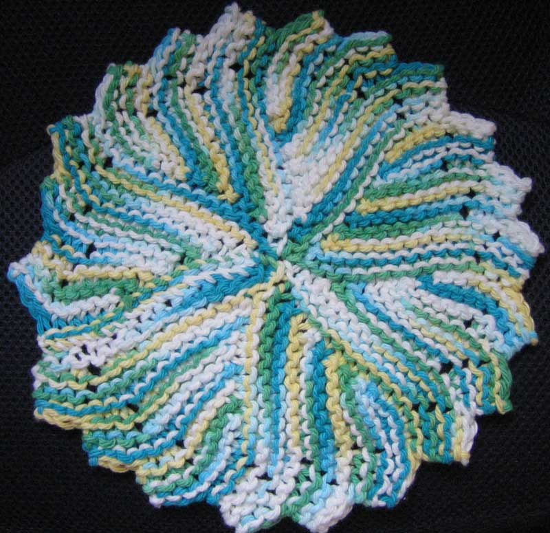 Knitting A Pattern In The Round : Basic Knitted Dishcloth Pattern Car Interior Design