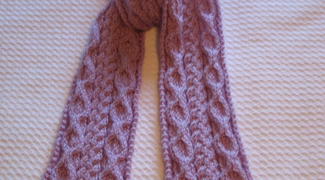 Cable Scarf Knitting Pattern : Cable Knit Scarf Pattern A Knitting Blog