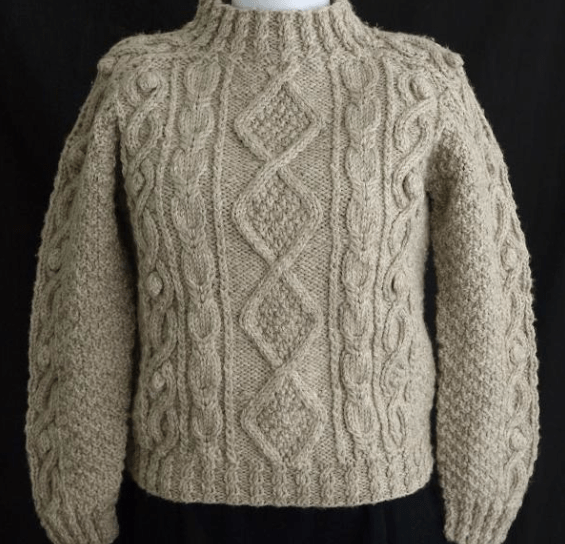 Easy Aran Cardigan Knitting Pattern : Aran Sweater Patterns - Long Sweater Jacket