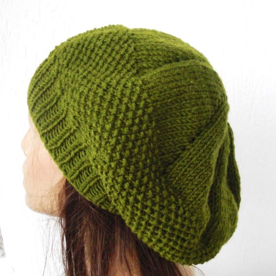 Knitting Hat Patterns : Knit Beret Hat Pattern A Knitting Blog