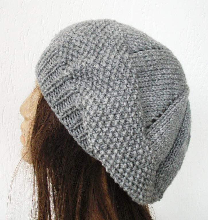 Knitting Patterns Hats : Knit Beret Hat Pattern A Knitting Blog