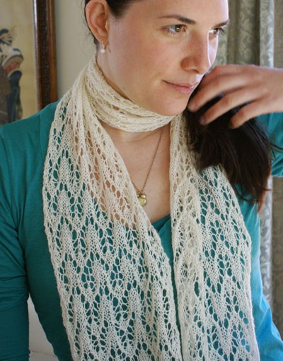 Knitting Patterns For Alpaca Scarf : Lace Scarf Knitting Pattern A Knitting Blog