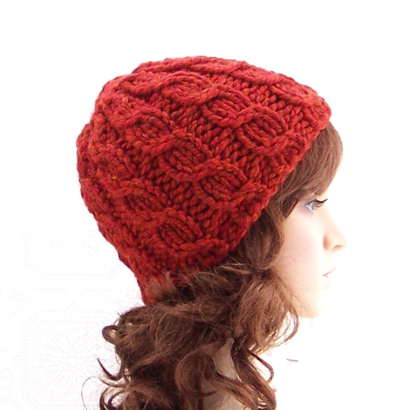 Free Knit Beanie Pattern : Knitted Hat Patterns Free Cable images