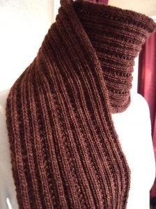 Simply Ribbed Scarf Pattern Photos