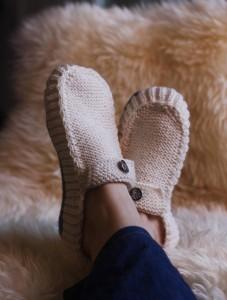Slippers Knitting Pattern Photo