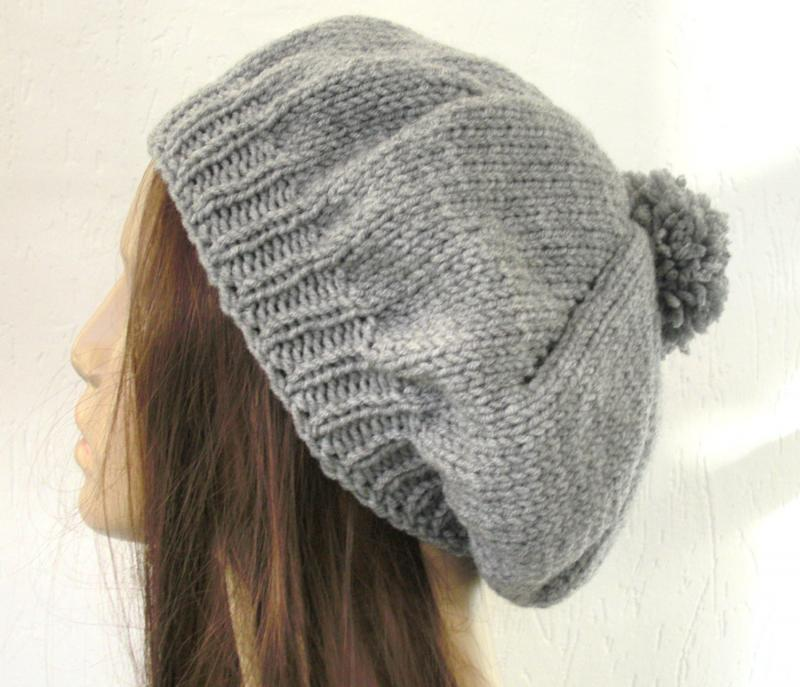Knitting Pattern Beanie Free : Slouchy Beanie Knit Pattern A Knitting Blog