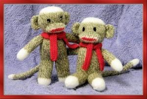 Sock Monkey Booties Knitting Pattern Free : RED HEART SOCK MONKEY KNITTING PATTERN   KNITTING PATTERN